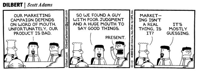 marketing real by Dilbert